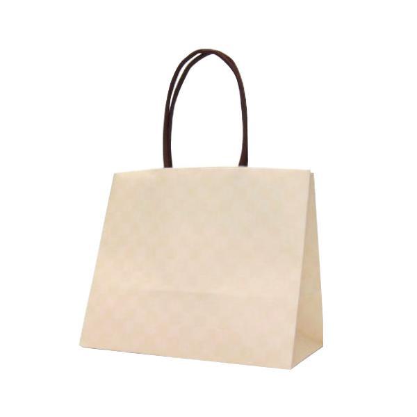 ●【送料無料】ハンディーバッグ テミニン 紙袋 180×100×150mm 100枚 アイボリー 1467「他の商品と同梱不可/北海道、沖縄、離島別途送料」