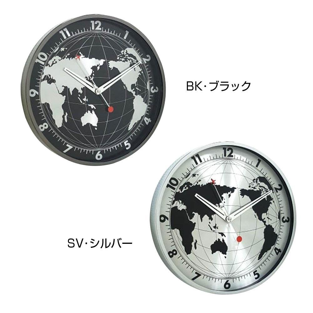 ●【送料無料】SPICE EDGE 壁掛け時計 GLOBE 30cm TELR1130「他の商品と同梱不可/北海道、沖縄、離島別途送料」