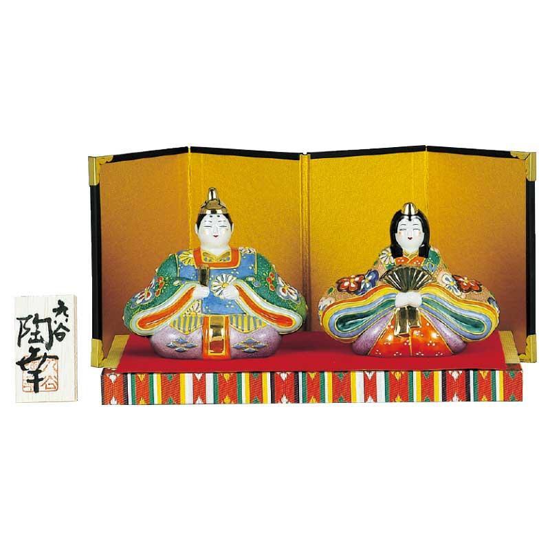 ●【送料無料】九谷焼 3号雛人形 絞り盛梅 N188-02「他の商品と同梱不可/北海道、沖縄、離島別途送料」