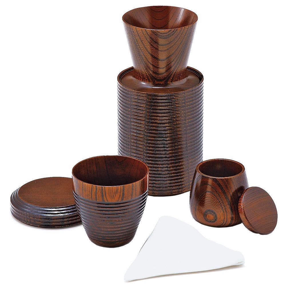 ●【送料無料】東出漆器 いつでもどこでもコーヒーセット(1人用) 24008「他の商品と同梱不可/北海道、沖縄、離島別途送料」