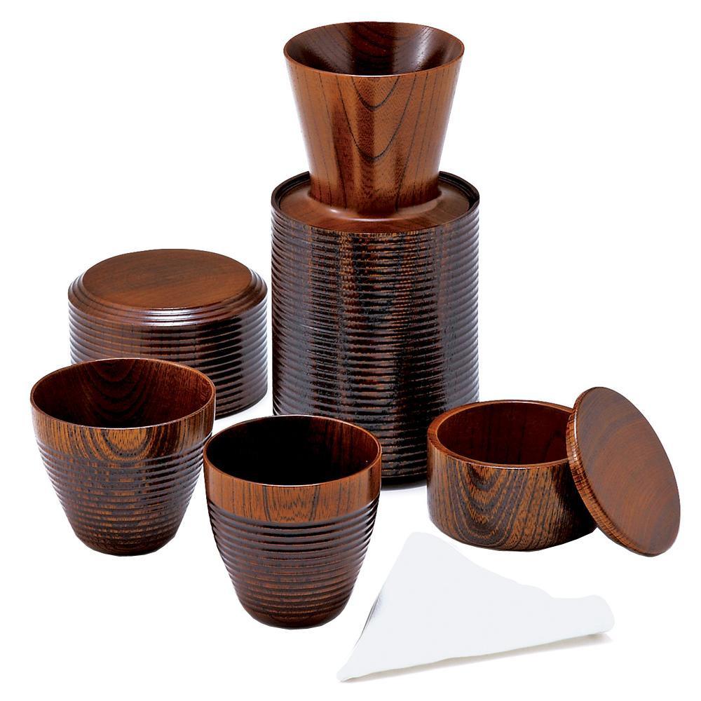●【送料無料】東出漆器 いつでもどこでもコーヒーセット(2人用) 24009「他の商品と同梱不可/北海道、沖縄、離島別途送料」