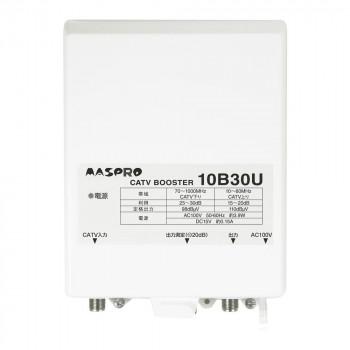 ●【送料無料】マスプロ電工 CATVブースター 10B30U-B「他の商品と同梱不可/北海道、沖縄、離島別途送料」
