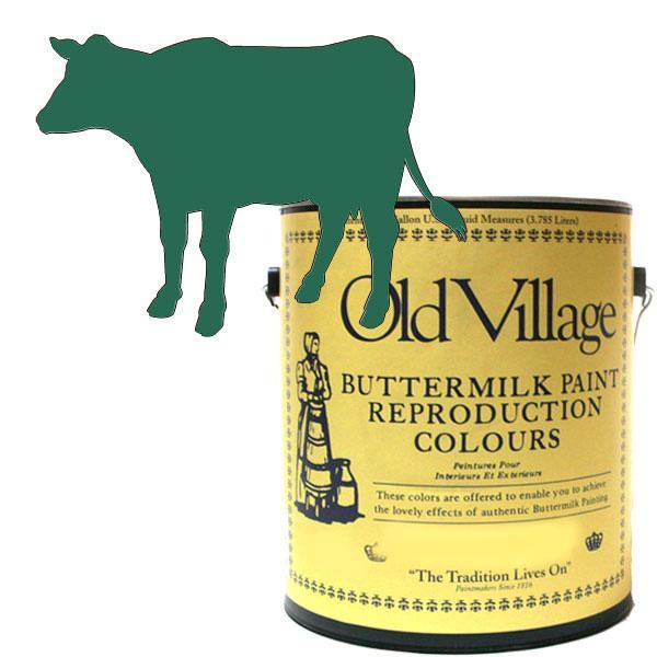 ●【送料無料】Old Village バターミルクペイント ファンシー チェア グリーン 3785mL 605-03051 BM-0305G「他の商品と同梱不可/北海道、沖縄、離島別途送料」