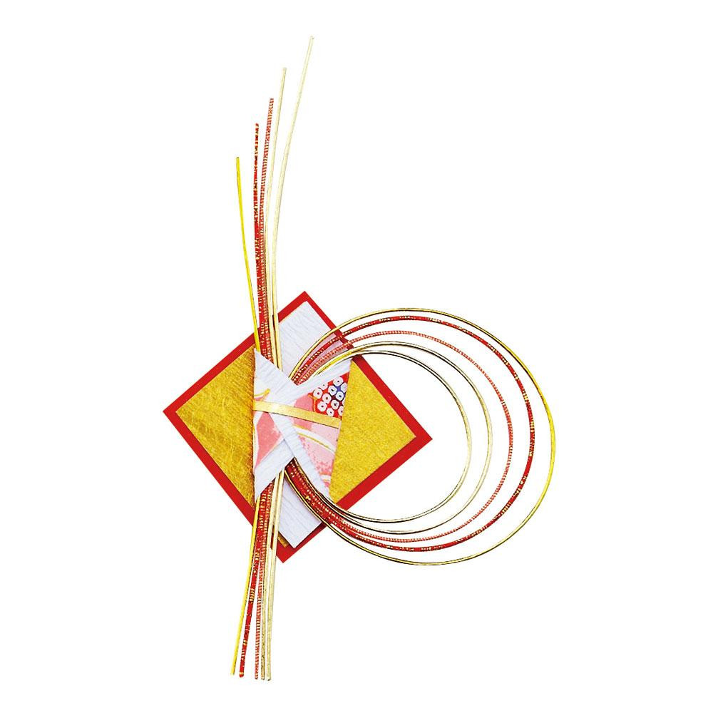 ●【送料無料】水引飾り のしリング 50本 09943「他の商品と同梱不可/北海道、沖縄、離島別途送料」