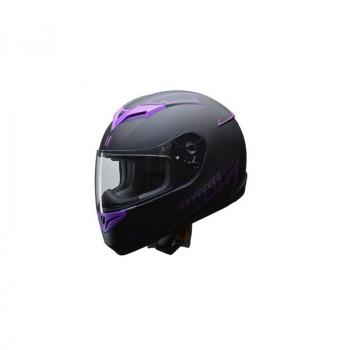 ●【送料無料】リード工業 LEAD ZIONE フルフェイスヘルメット パープル Mサイズ「他の商品と同梱不可/北海道、沖縄、離島別途送料」