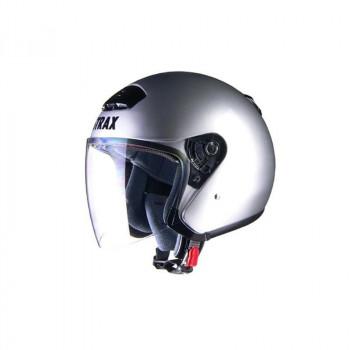 ●【送料無料】リード工業 STRAX ジェットヘルメット シルバー BIG SJ-4「他の商品と同梱不可/北海道、沖縄、離島別途送料」