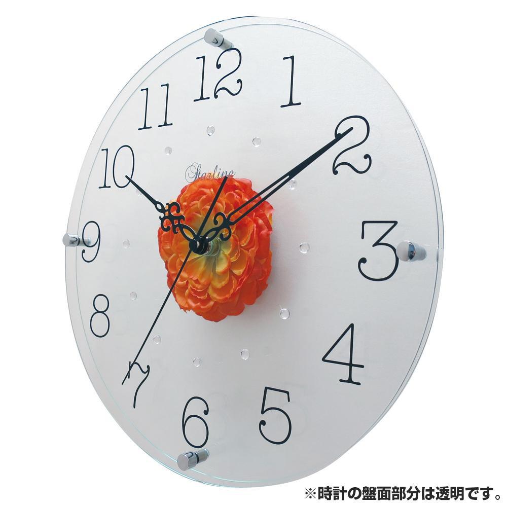●【送料無料】アートフラワー 掛け時計 OR SW-1192「他の商品と同梱不可/北海道、沖縄、離島別途送料」