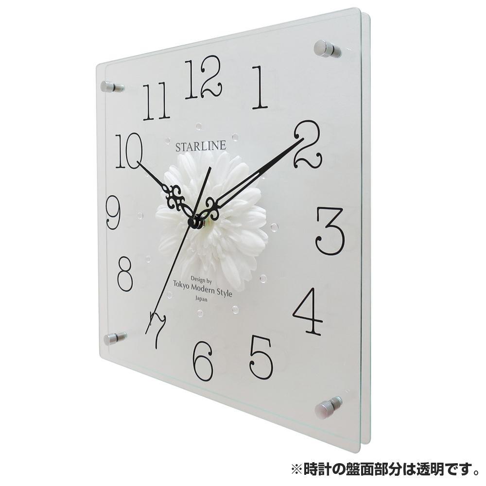 ●【送料無料】アートフラワー 掛け時計 WT SW-1198「他の商品と同梱不可/北海道、沖縄、離島別途送料」