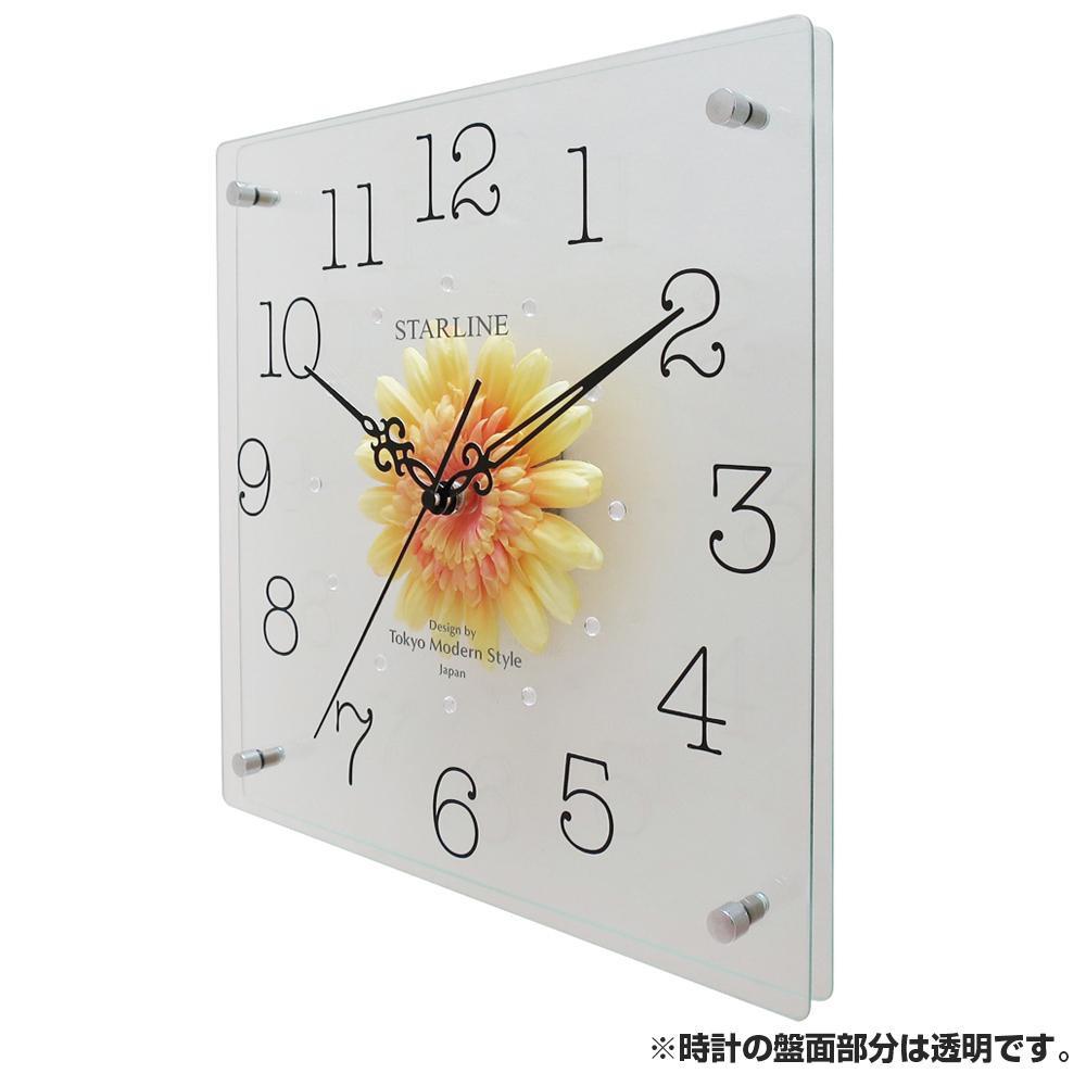 ●【送料無料】アートフラワー 掛け時計 YE SW-1198「他の商品と同梱不可/北海道、沖縄、離島別途送料」