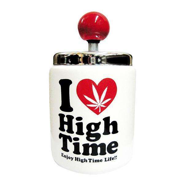 ●【送料無料】I Love High Time ターンアシュトレイ(灰皿) WH ARO-1073「他の商品と同梱不可/北海道、沖縄、離島別途送料」