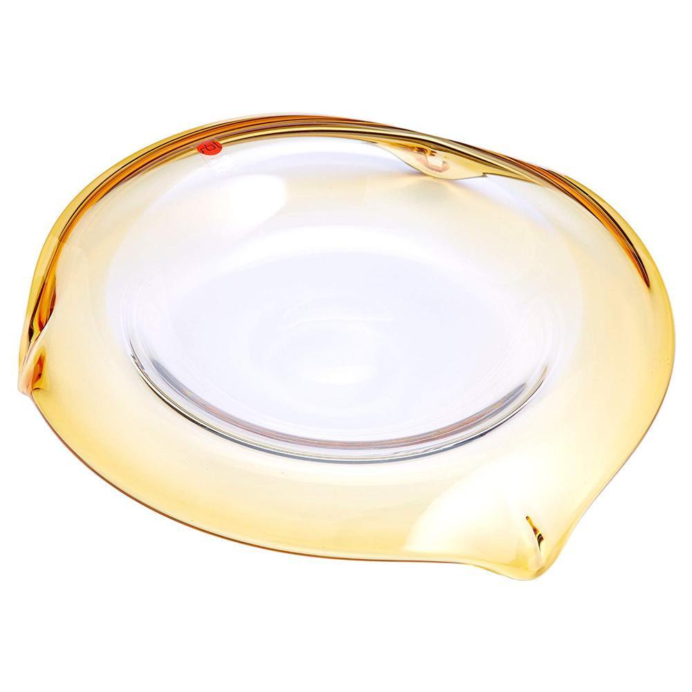 ●【送料無料】UKABU deep plate240(amber) F71108「他の商品と同梱不可/北海道、沖縄、離島別途送料」