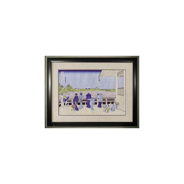 ●【送料無料】ART FRAMES 葛飾北斎 五百羅漢寺 HK-20001「他の商品と同梱不可/北海道、沖縄、離島別途送料」