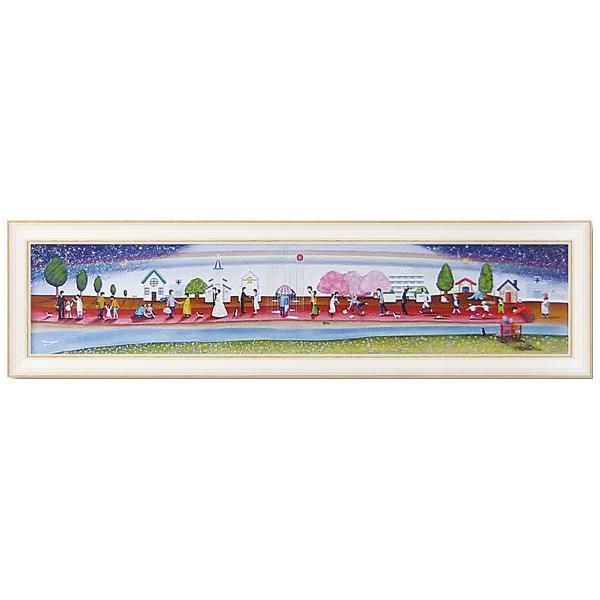 ●【送料無料】ユーパワー アートフレーム なかの まりの 人生のレッドカーペット(Lサイズ) NM-15004「他の商品と同梱不可/北海道、沖縄、離島別途送料」