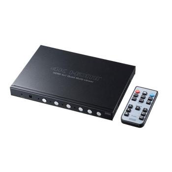 ●【送料無料】4入力1出力HDMI画面分割切替器(4K対応) SW-UHD41MTV「他の商品と同梱不可/北海道、沖縄、離島別途送料」