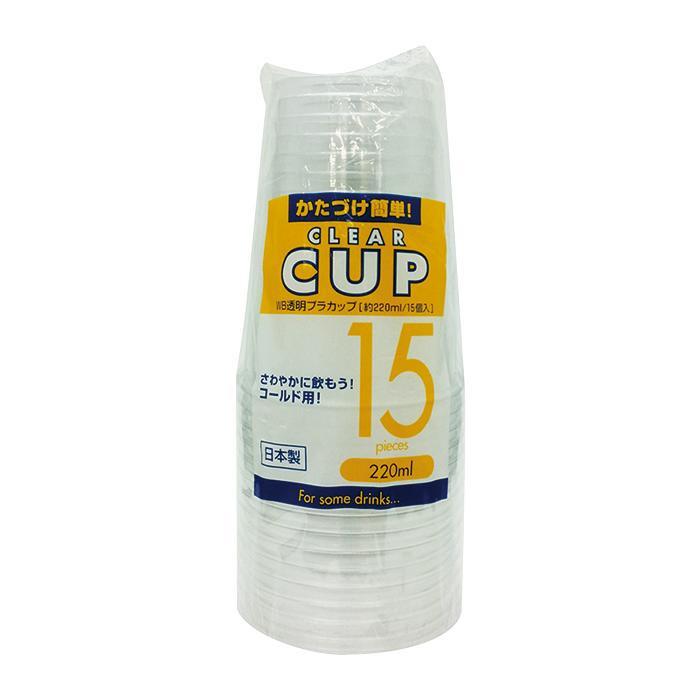 ●【送料無料】アートナップ WB 透明プラカップ 220ml 15個×120 WB-46「他の商品と同梱不可/北海道、沖縄、離島別途送料」