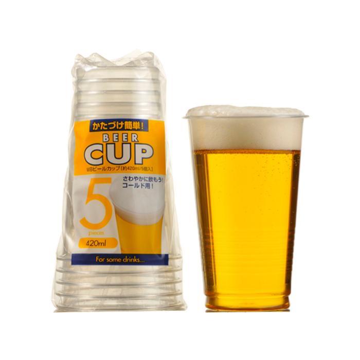 ●【送料無料】アートナップ WB PETビールカップ 420ml 5個×150 WB-36「他の商品と同梱不可/北海道、沖縄、離島別途送料」