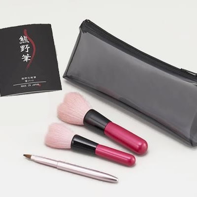 ●【送料無料】【代引不可】熊野化粧筆 筆の心 ハートセット KFi-P12HT「他の商品と同梱不可」