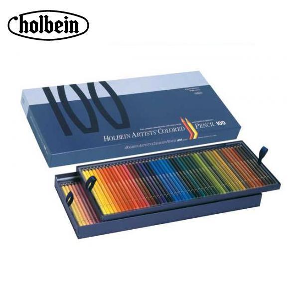 ●【送料無料】ホルベイン アーチスト色鉛筆 OP940 100色セット(紙函入) 20940「他の商品と同梱不可/北海道、沖縄、離島別途送料」