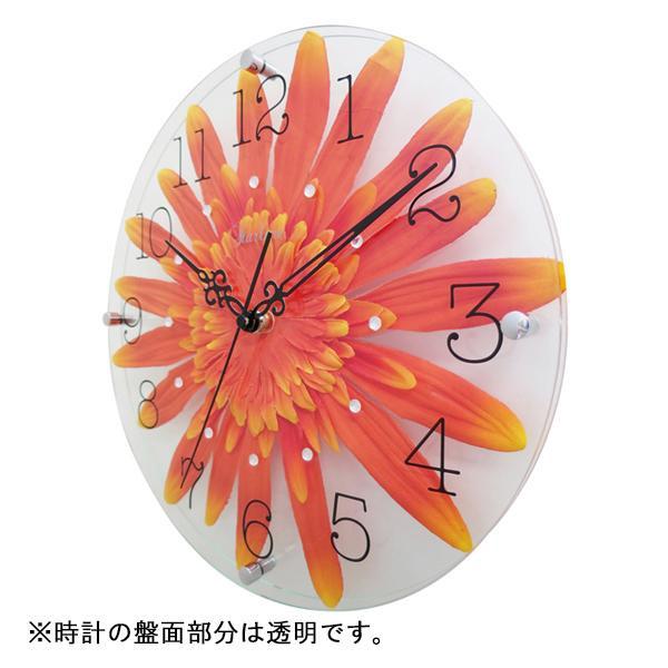 ●【送料無料】アートフラワー 掛け時計 OR SW-1187「他の商品と同梱不可/北海道、沖縄、離島別途送料」