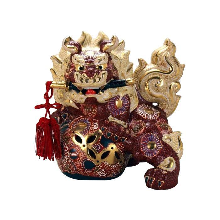 ●【送料無料】九谷焼 8号剣獅子 盛 N194-06「他の商品と同梱不可/北海道、沖縄、離島別途送料」