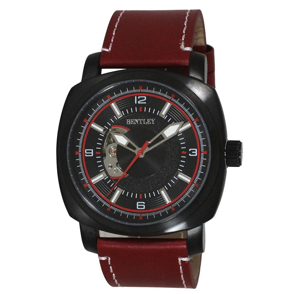 ●【送料無料】BENTLEY 機械式腕時計 BT-AM078-RDB「他の商品と同梱不可/北海道、沖縄、離島別途送料」