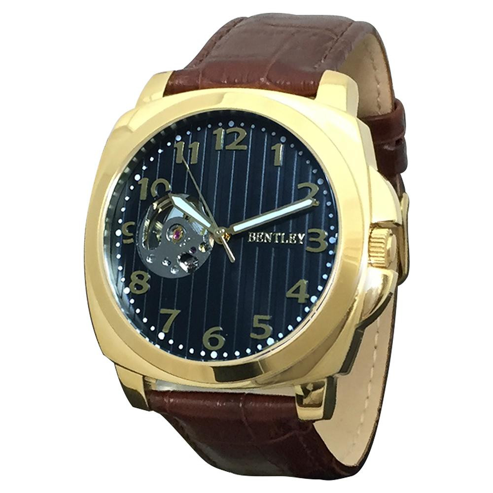 ●【送料無料】BENTLEY 機械式腕時計 BT-AM079-BKG「他の商品と同梱不可/北海道、沖縄、離島別途送料」