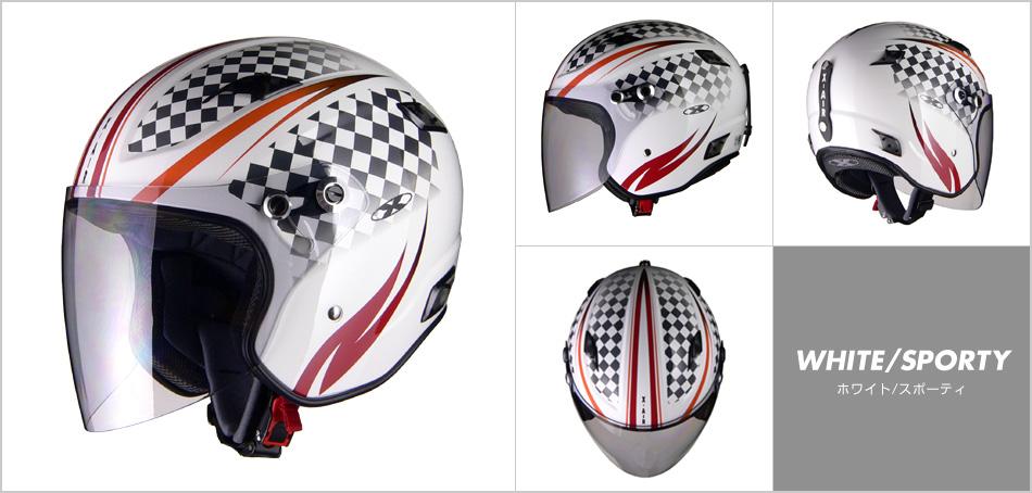 LEAD リード工業 X-AIR RAZZOIII G1 ジェットヘルメット ホワイト/スポーティ Sサイズ