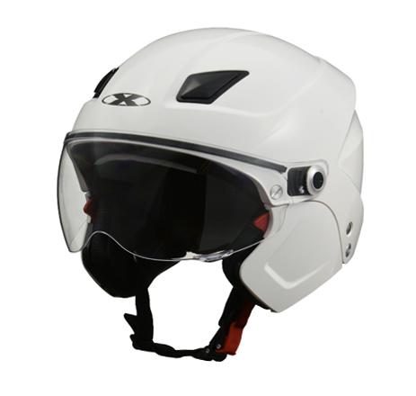 LEAD リード工業 X-AIR ソルダード3段階変化(ハーフ/セミジェット/フルフェイス)ヘルメット+フェイスマスク ホワイト