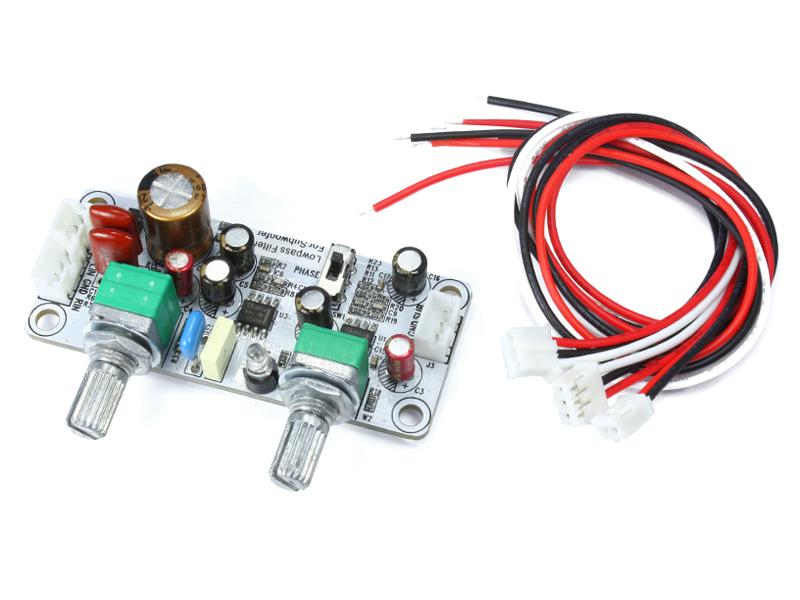 サブウーファーの製作に ローパスフィルター基板 NFJ 可変ローパスフィルター完成基板 使い勝手の良い 22Hz-240Hz ウーファーコントロールプリ 再販ご予約限定送料無料