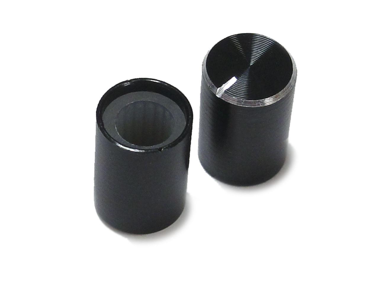 Φ10mm★アルミボリュームツマミ 2個セット[6mmローレット軸用]