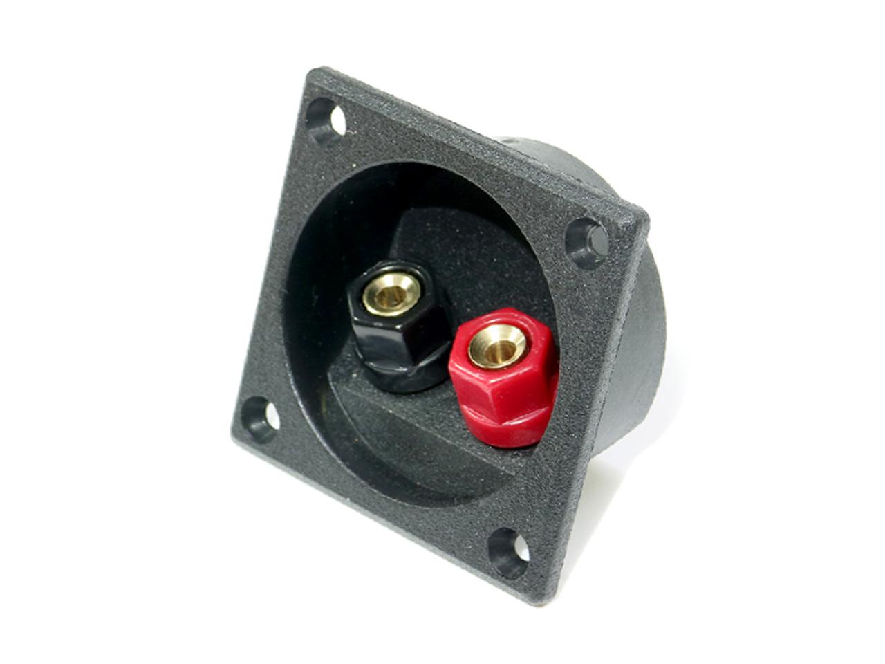 低価格化 ターミナルに銅素材を使用した高品質版 トレンド 埋込型スピーカーターミナル 高品質版 取り付け穴径Φ49mm Φ4mmバナナプラグ対応