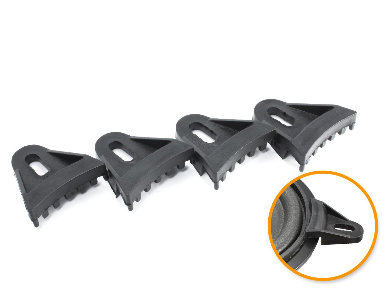 ネジ穴のないスピーカーの固定 取り付けに 樹脂製 スピーカー固定用部材4個セット 国内即発送 マウントアダプター 国際ブランド スピーカークランプ ブラック