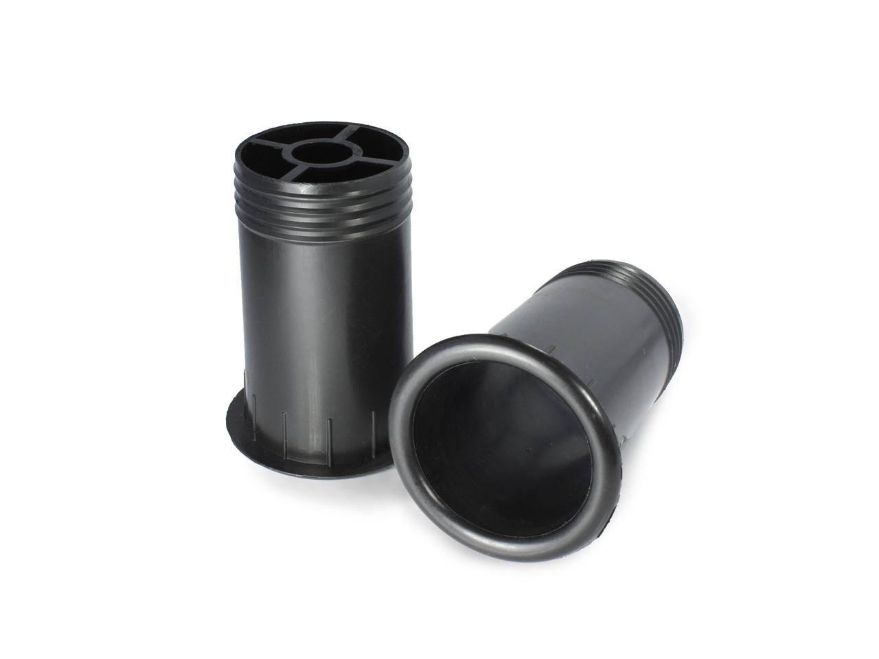バスレフ型スピーカーの製作に 綺麗な仕上がり メイルオーダー 新発売 樹脂製 ブラック スピーカーバスレフポート2個セット Φ44mm×74mm