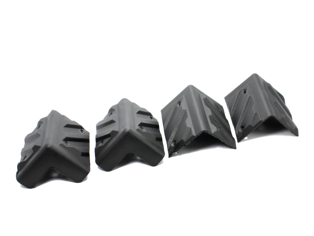 スピーカー角の保護に 樹脂製 スピーカー コーナーガード 超激得SALE 爆買い送料無料 4個セット 角型 サイズ大 角を保護 コーナープロテクター