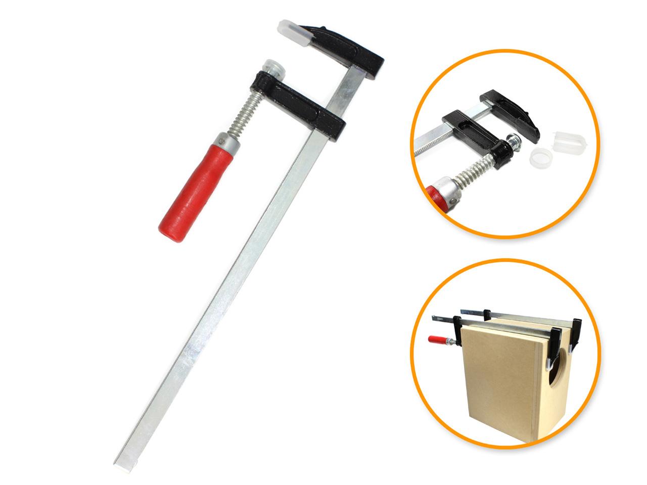 ◆高品質 エンクロージャー製作に絶対いるでしょ F型クランプ 即納最大半額 50mm×300mm シャコ万 木工用 工具 DIY 固定