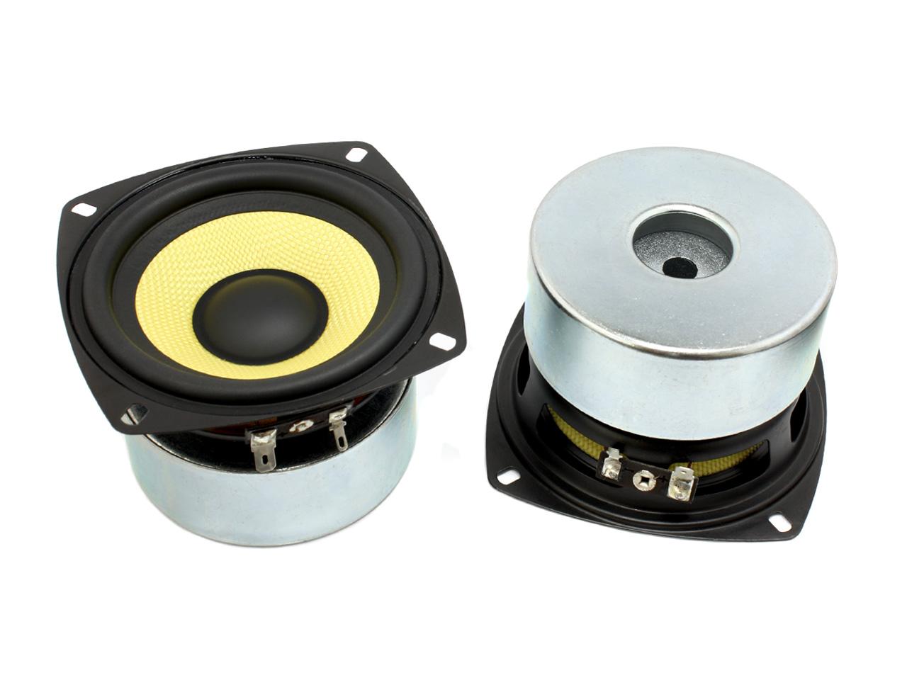 BWでお馴染み マート 情熱セール 高耐久良特性のケブラコーン仕様 ケブラーコーン仕様ウーハースピーカーユニット4インチ 102mm スピーカー自作 4Ω MAX80W DIYオーディオ