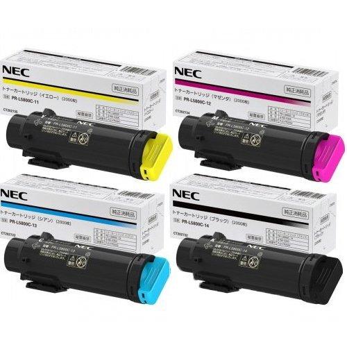 NEC トナーカートリッジ PR-L5800C-11/12/13/14 標準 4色セット 純正品