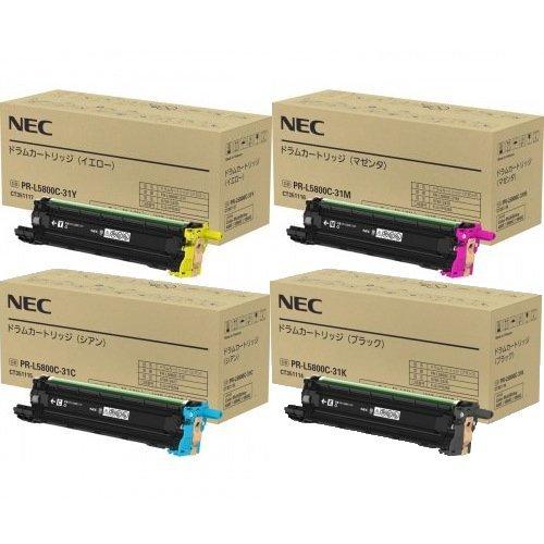 NEC ドラムカートリッジ PR-L5800C-31 KCMY 4色セット 純正品