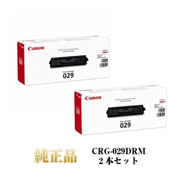 CANON キャノン ドラムカートリッジ029 CRG-029DRM 純正品 2本セット