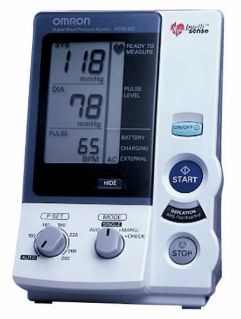 オムロンデジタル自動血圧計HEM-907/HEM907/オート&マニュアル2方式対応型/OMRON※訳あり箱色あせ