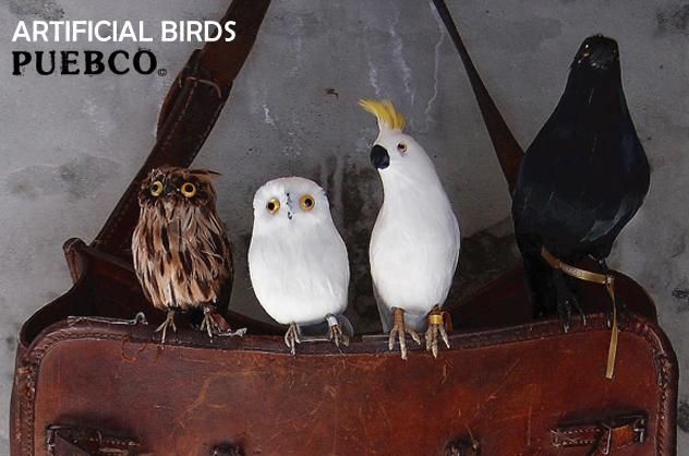 Budgie(Blue)黄背绿鹦鹉蓝色PUEBCO Artificial Birds puebukoatifisharubado 127071
