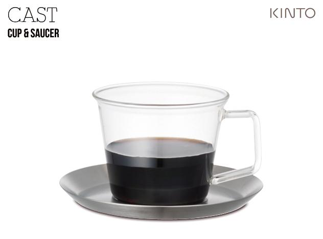 CAST Cup and Saucer キャスト カップソーサー KINTO キントー ランキング総合1位 グラス コップ 耐熱 ガラス あす楽対応_東海 ステンレス コーヒカップ 5%OFF