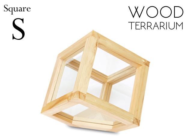【 S 】 WOOD TERRARIUM [ Square ] / ウッド テラリウム スクエアー  amabro / アマブロ テラリウム オブジェ 木 wood ショーケース 【あす楽対応_東海】