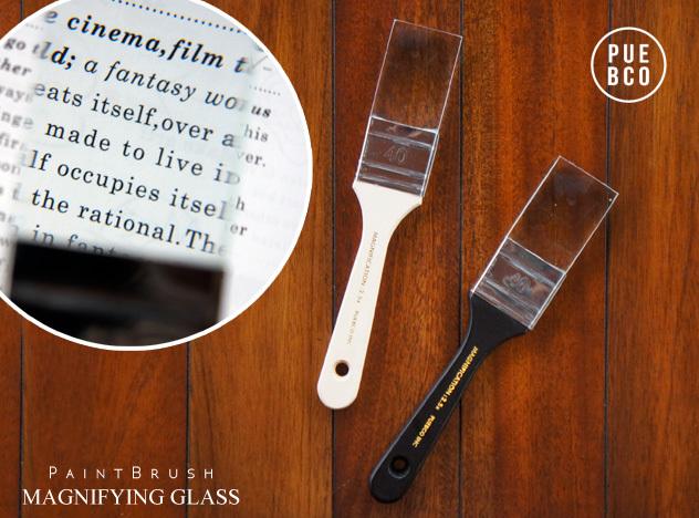 PaintBrush MAGNIFYING GLASS 安心の実績 高価 買取 強化中 ペイントブラシ型 マグ二ファインググラス PUEBCO 眼鏡 新着 めがね ペンキ ルーペ メガネ プエブコ虫眼鏡