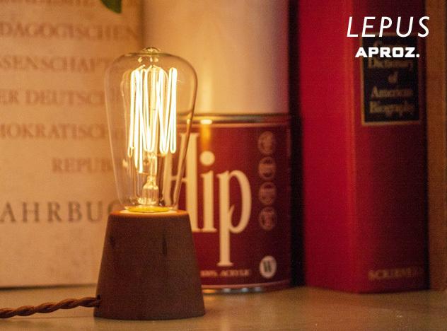 Table Light LEPUS/ テーブル ライト レプス APROZ / アプロス WOOD レトロ電球 アンティーク エジソン球 置型照明 ライト 間接照明 照明 ランプ AZT-112-BR