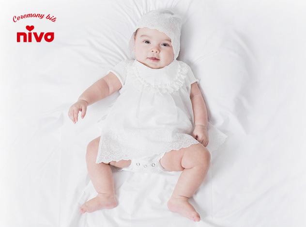 Ceremony bib セレモニービブniva ニヴァスタイ よだれかけ 出産祝い 赤ちゃん ベイビーセレモニードレス あす楽対応 東海9HIED2