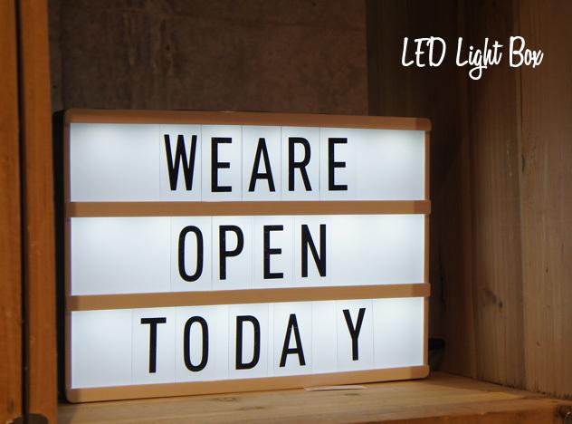 LED Light Box / LED ライトボックス 看板 電気 インテリア ライト メニュー ボード ショップ 什器 DETAIL