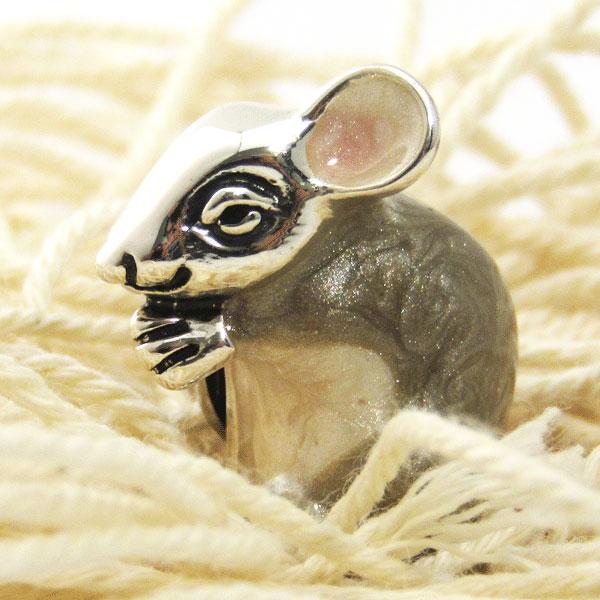 【当店通常価格13200円】ネズミのラペルピン サツルノ イタリア製
