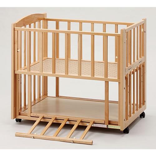 【国産】ビーサイドミニ ナチュラル(ツーオープン b-side mini)収納棚付(超小型・ミニベッド)添い寝ベッド【ヤマサキ】SS-261N