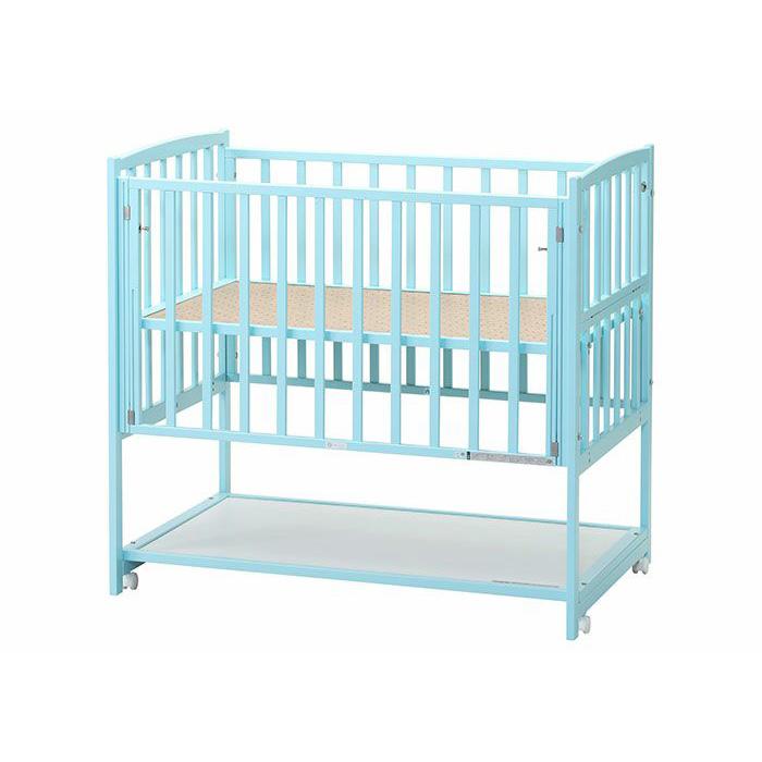 【国産】ハイタイプ ツーオープン ブルー収納棚付(標準サイズ)【ヤマサキ】DY-212B